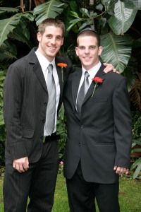 Matt and Cliff at my wedding, Feb 2006