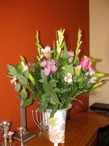 All the way from Israel via Netflorist from my brother Matthew