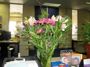 From Ro (I left these ones at the office to brighten my desk)