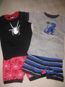 Funky PJ's for Aaron (the spider is glow in the dark!)